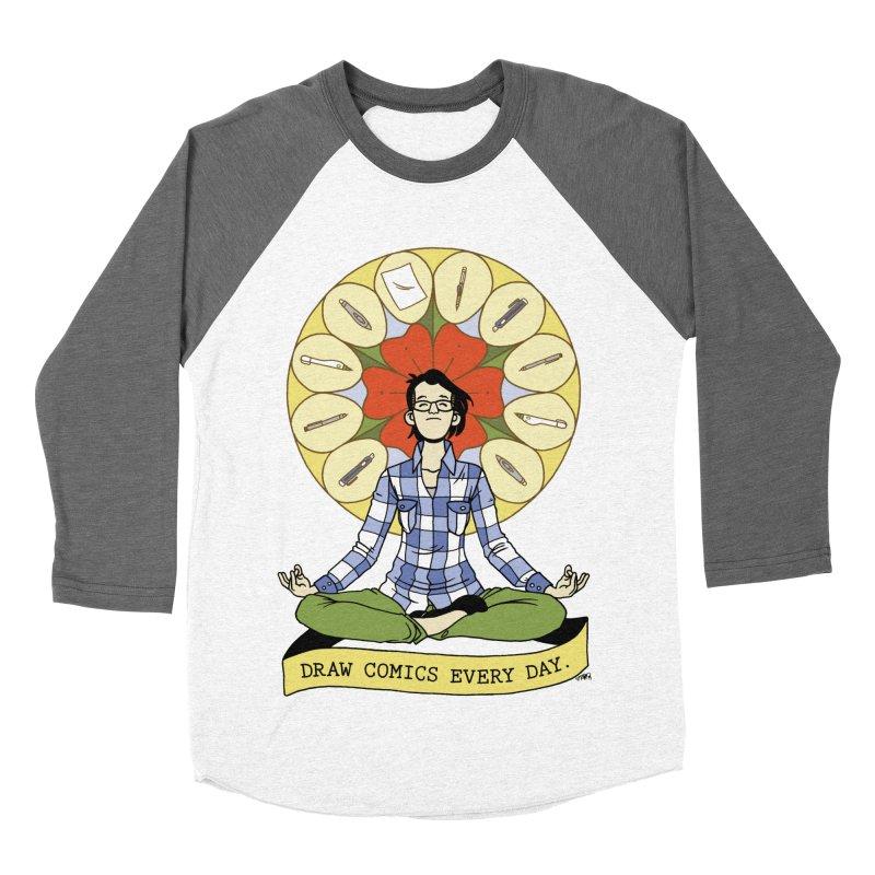 Draw Comics Every Day Men's Baseball Triblend T-Shirt by mixtapecomics's Artist Shop