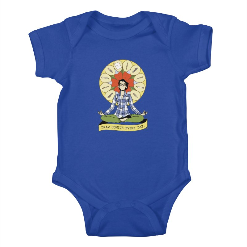 Draw Comics Every Day Kids Baby Bodysuit by Mixtape Comics