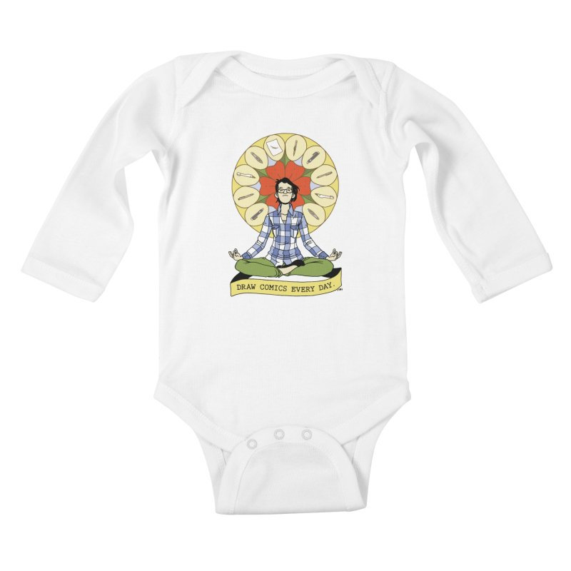Draw Comics Every Day Kids Baby Longsleeve Bodysuit by mixtapecomics's Artist Shop