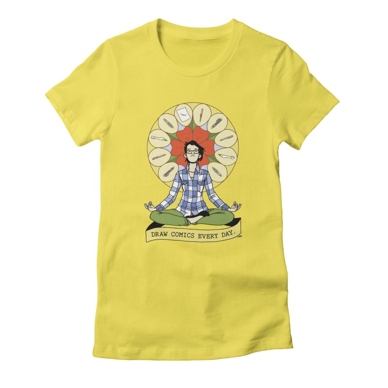 Draw Comics Every Day Women's T-Shirt by Mixtape Comics