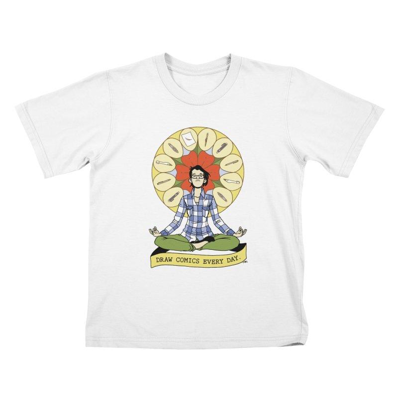 Draw Comics Every Day Kids T-Shirt by mixtapecomics's Artist Shop