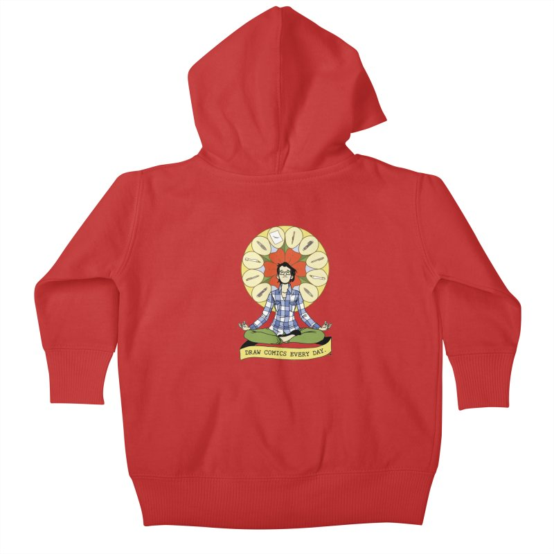 Draw Comics Every Day Kids Baby Zip-Up Hoody by Mixtape Comics