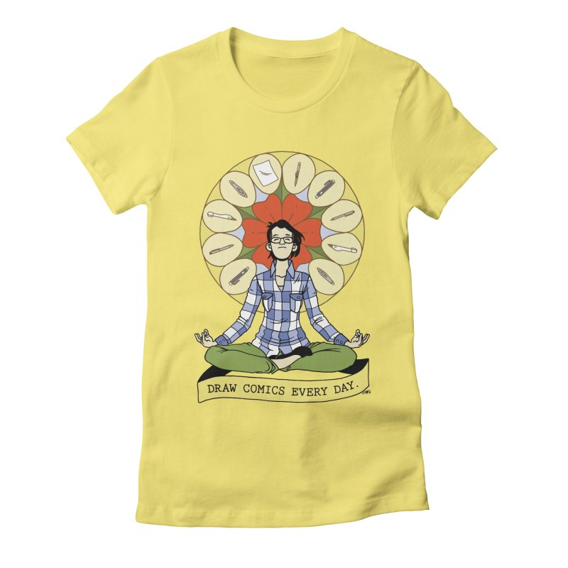 Draw Comics Every Day Women's Fitted T-Shirt by Mixtape Comics