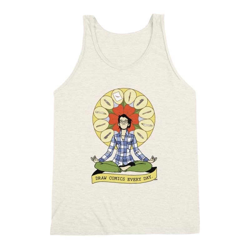 Draw Comics Every Day Men's Triblend Tank by Mixtape Comics