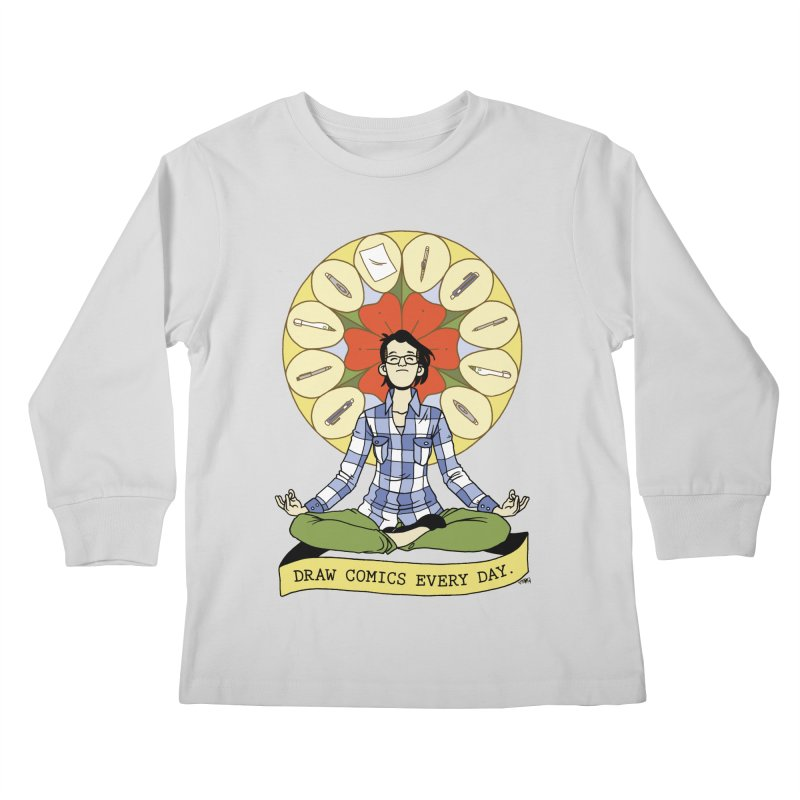 Draw Comics Every Day Kids Longsleeve T-Shirt by Mixtape Comics