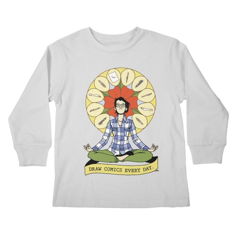 Draw Comics Every Day Kids Longsleeve T-Shirt by mixtapecomics's Artist Shop