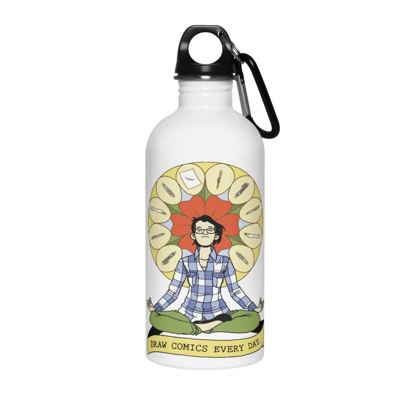 Draw Comics Every Day Accessories Water Bottle by mixtapecomics's Artist Shop