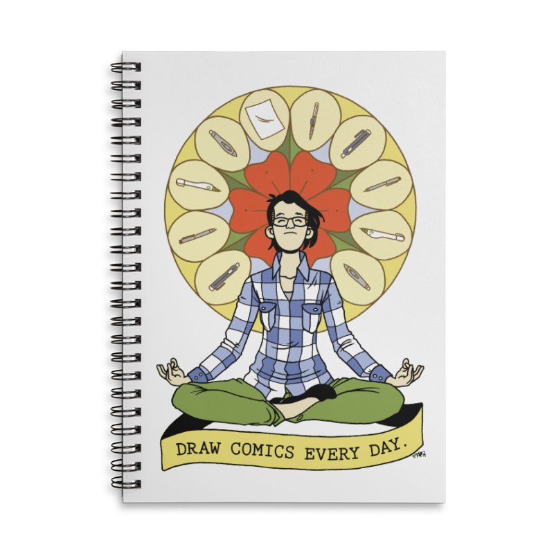 Draw Comics Every Day Accessories Lined Spiral Notebook by Mixtape Comics