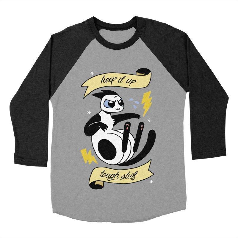 Keep It Up Tough Stuff Women's Baseball Triblend Longsleeve T-Shirt by Mixtape Comics