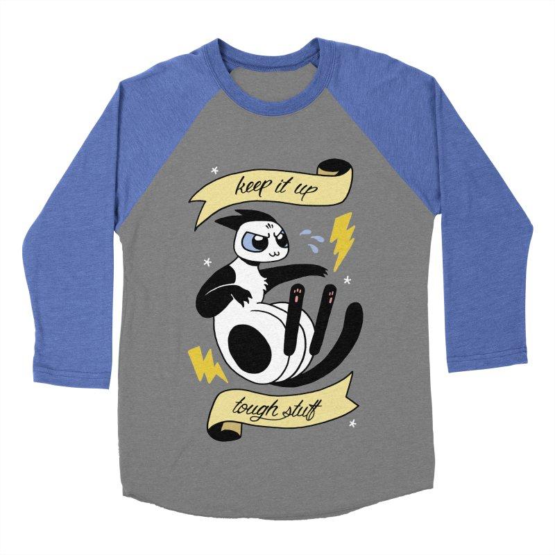 Keep It Up Tough Stuff Men's Baseball Triblend Longsleeve T-Shirt by mixtapecomics's Artist Shop
