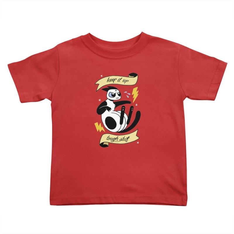 Keep It Up Tough Stuff Kids Toddler T-Shirt by mixtapecomics's Artist Shop