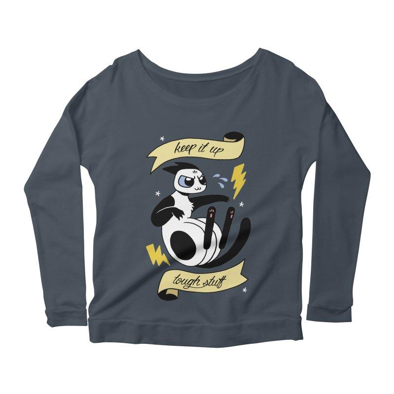 Keep It Up Tough Stuff Women's Scoop Neck Longsleeve T-Shirt by Mixtape Comics