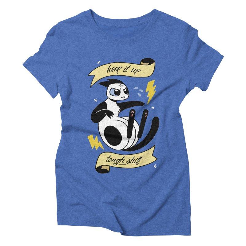 Keep It Up Tough Stuff Women's Triblend T-Shirt by Mixtape Comics