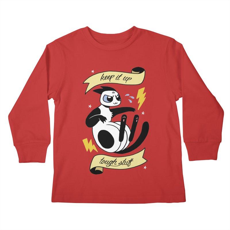 Keep It Up Tough Stuff Kids Longsleeve T-Shirt by Mixtape Comics