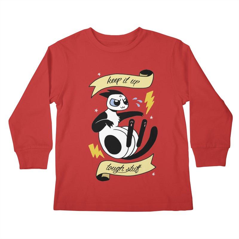 Keep It Up Tough Stuff Kids Longsleeve T-Shirt by mixtapecomics's Artist Shop