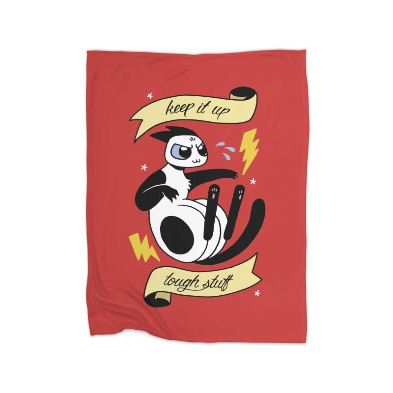 Keep It Up Tough Stuff Home Fleece Blanket Blanket by Mixtape Comics