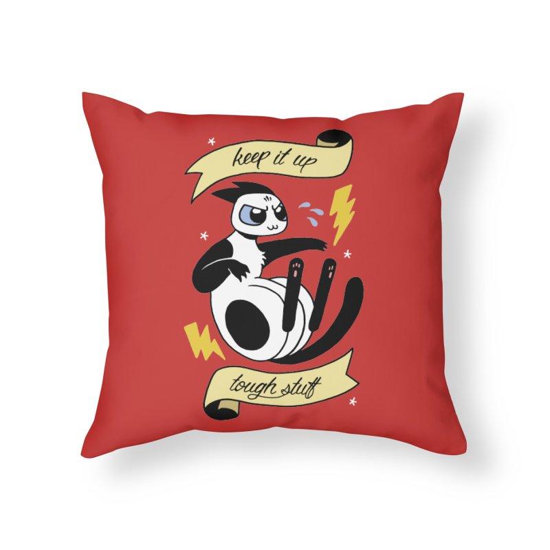Keep It Up Tough Stuff Home Throw Pillow by Mixtape Comics
