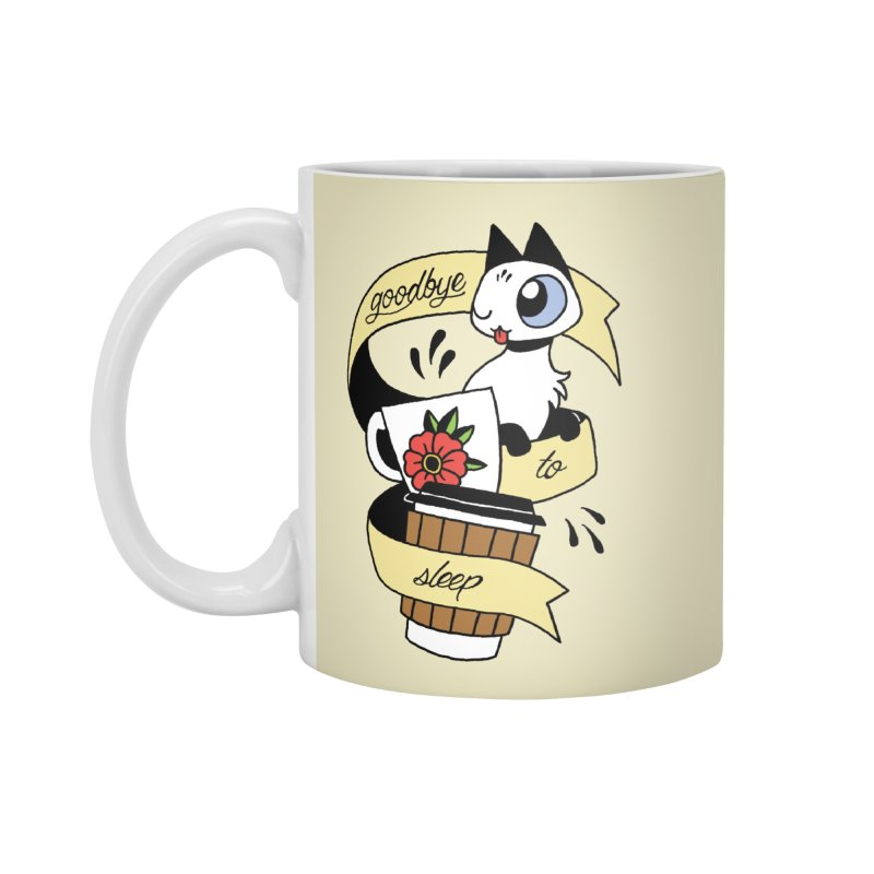 Goodbye to Sleep Accessories Mug by mixtapecomics's Artist Shop
