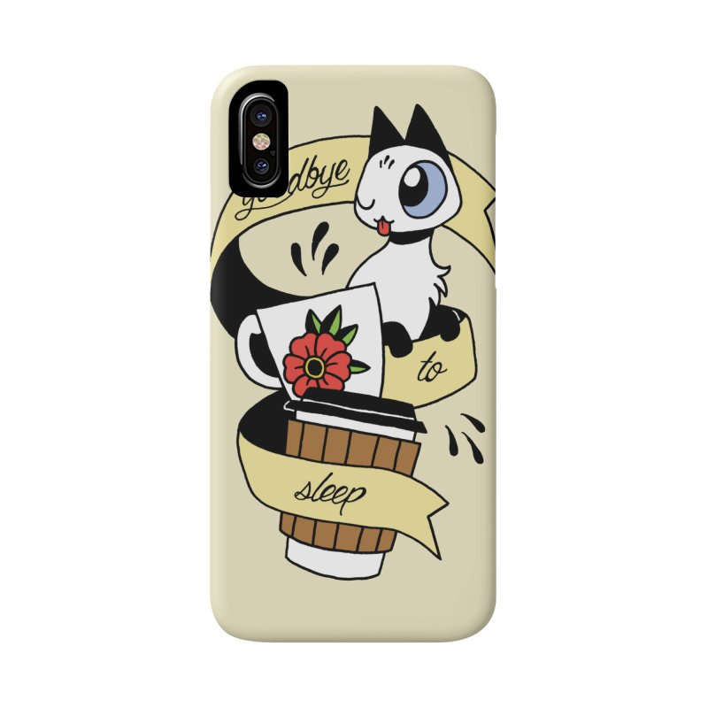 Goodbye to Sleep Accessories Phone Case by mixtapecomics's Artist Shop