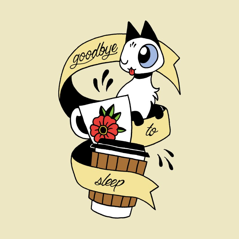 Goodbye to Sleep Accessories Sticker by Mixtape Comics