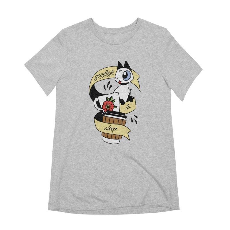 Goodbye to Sleep Women's Extra Soft T-Shirt by Mixtape Comics
