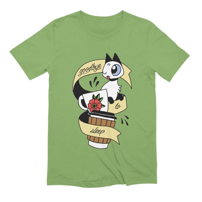 Goodbye to Sleep Men's Extra Soft T-Shirt by Mixtape Comics