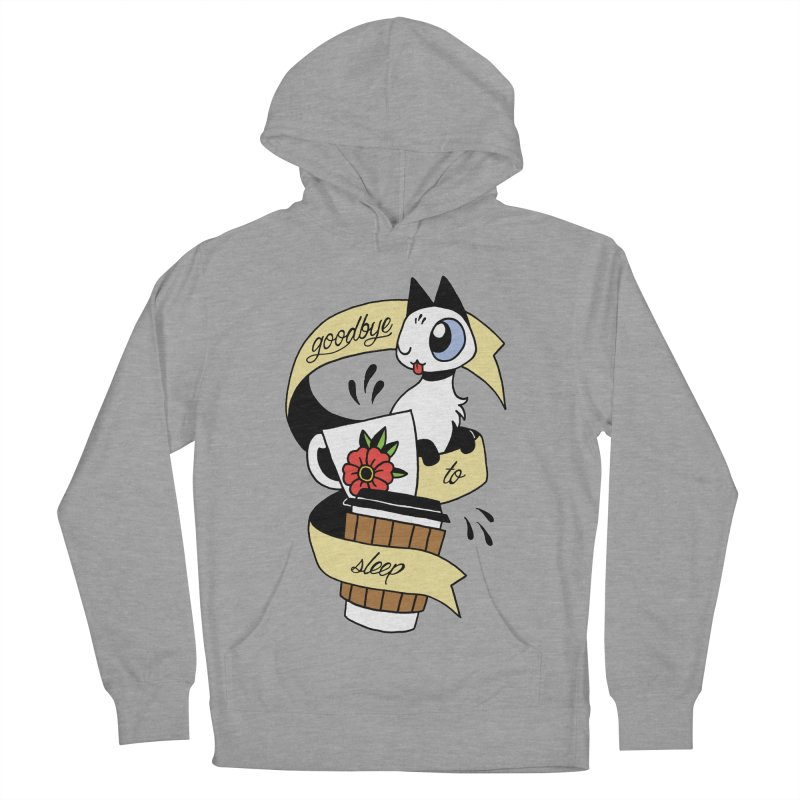 Goodbye to Sleep Women's French Terry Pullover Hoody by mixtapecomics's Artist Shop