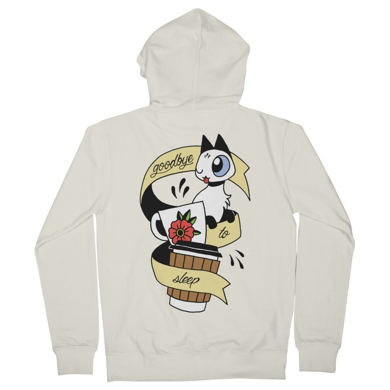 Goodbye to Sleep Men's French Terry Zip-Up Hoody by Mixtape Comics