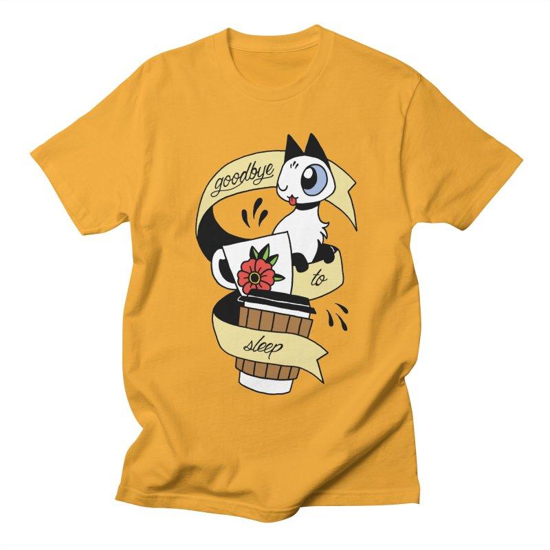 Goodbye to Sleep Men's Regular T-Shirt by Mixtape Comics