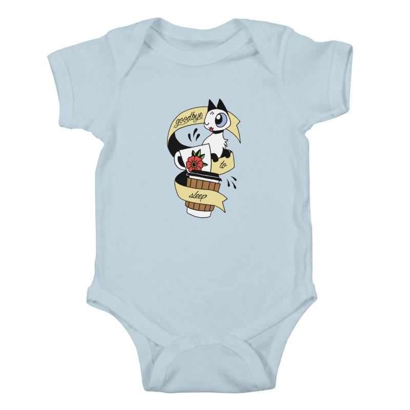 Goodbye to Sleep Kids Baby Bodysuit by Mixtape Comics