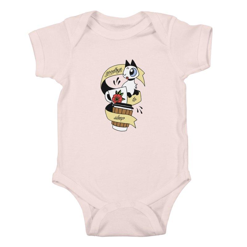 Goodbye to Sleep Kids Baby Bodysuit by mixtapecomics's Artist Shop