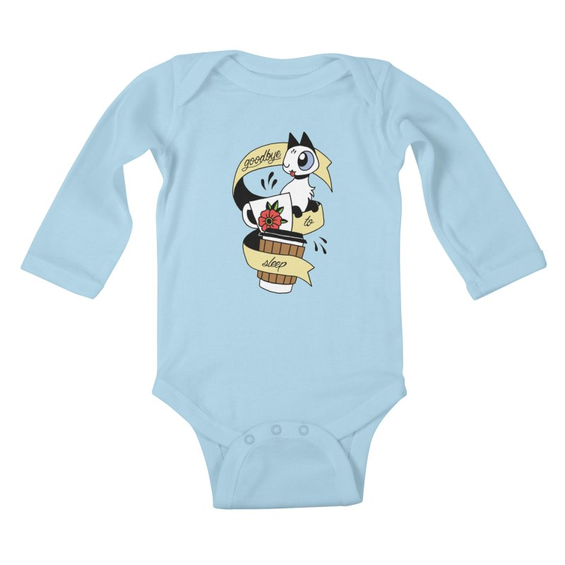 Goodbye to Sleep Kids Baby Longsleeve Bodysuit by mixtapecomics's Artist Shop