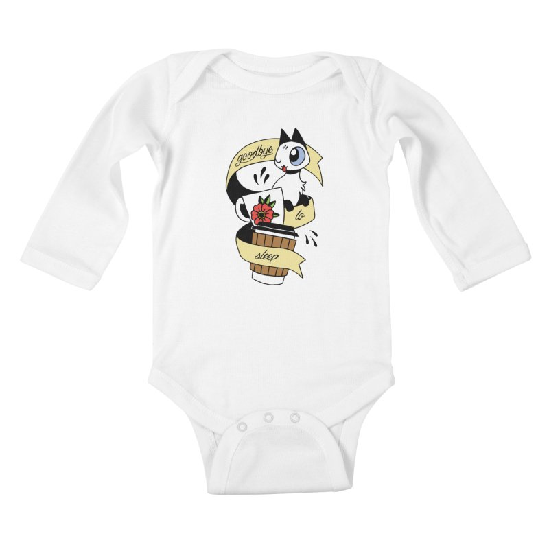 Goodbye to Sleep Kids Baby Longsleeve Bodysuit by Mixtape Comics