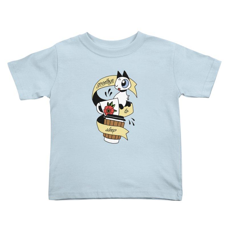 Goodbye to Sleep Kids Toddler T-Shirt by Mixtape Comics