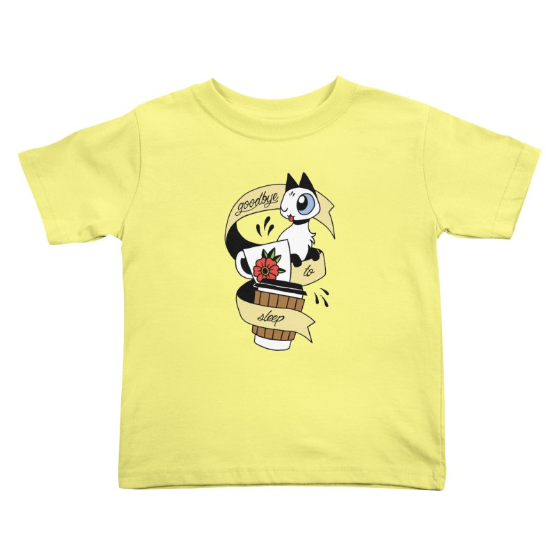 Goodbye to Sleep Kids Toddler T-Shirt by Mixtape Comics
