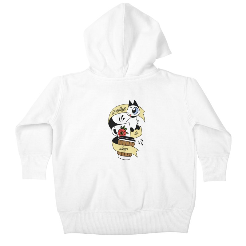 Goodbye to Sleep Kids Baby Zip-Up Hoody by mixtapecomics's Artist Shop