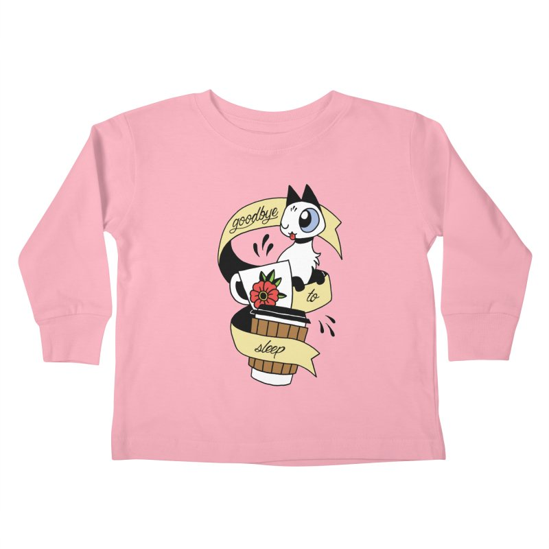 Goodbye to Sleep Kids Toddler Longsleeve T-Shirt by Mixtape Comics