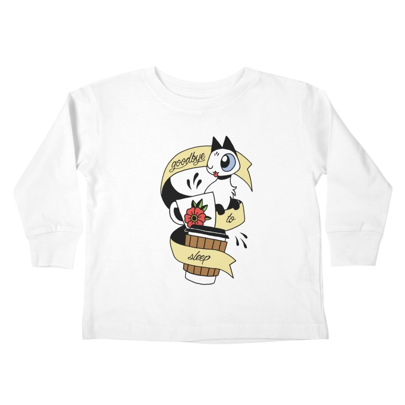 Goodbye to Sleep Kids Toddler Longsleeve T-Shirt by mixtapecomics's Artist Shop