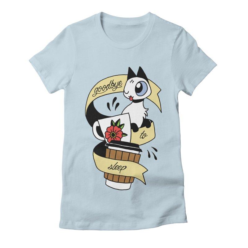 Goodbye to Sleep Women's Fitted T-Shirt by mixtapecomics's Artist Shop