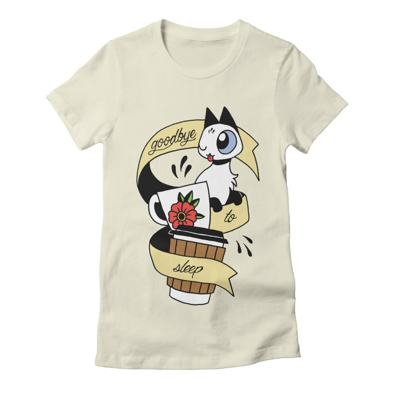 Goodbye to Sleep Women's Fitted T-Shirt by Mixtape Comics
