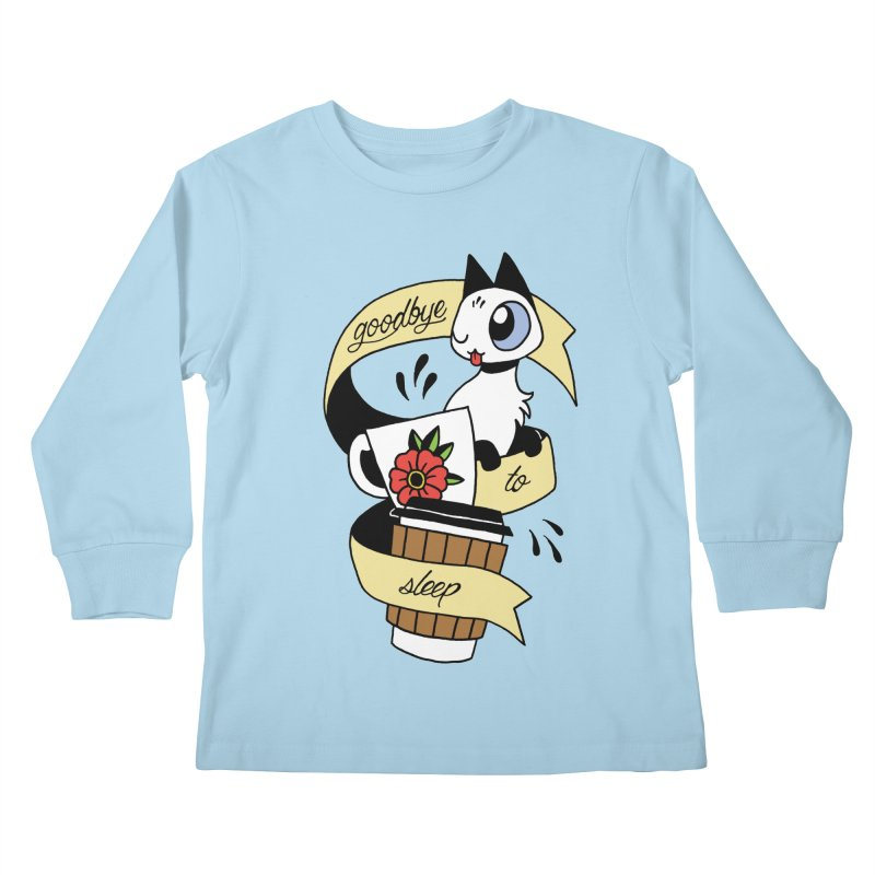 Goodbye to Sleep Kids Longsleeve T-Shirt by mixtapecomics's Artist Shop