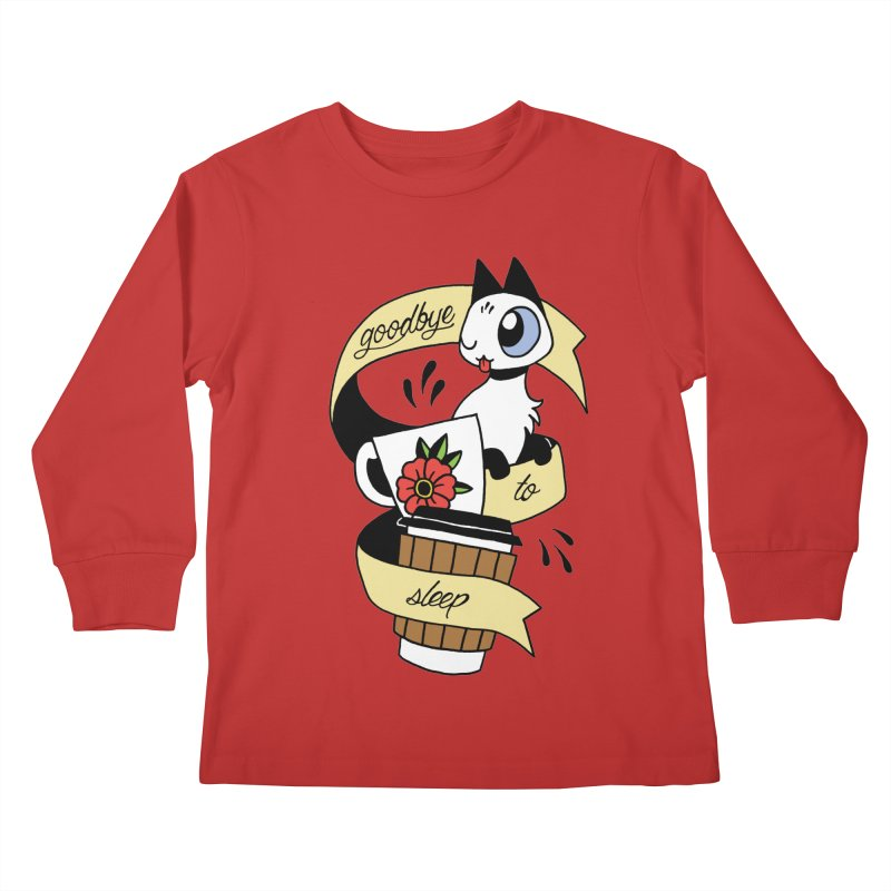 Goodbye to Sleep Kids Longsleeve T-Shirt by Mixtape Comics