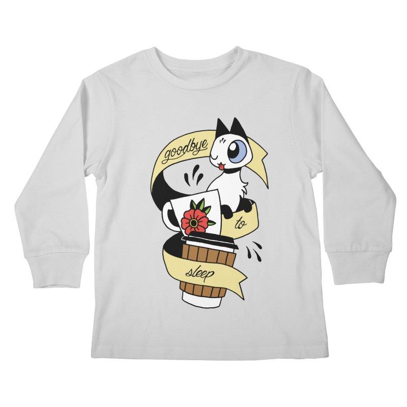 Goodbye to Sleep Kids Longsleeve T-Shirt by mixtapecomics's Artist Shop