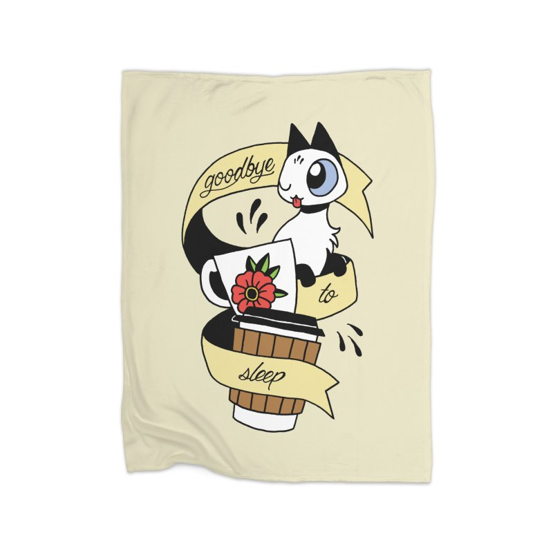 Goodbye to Sleep Home Blanket by mixtapecomics's Artist Shop