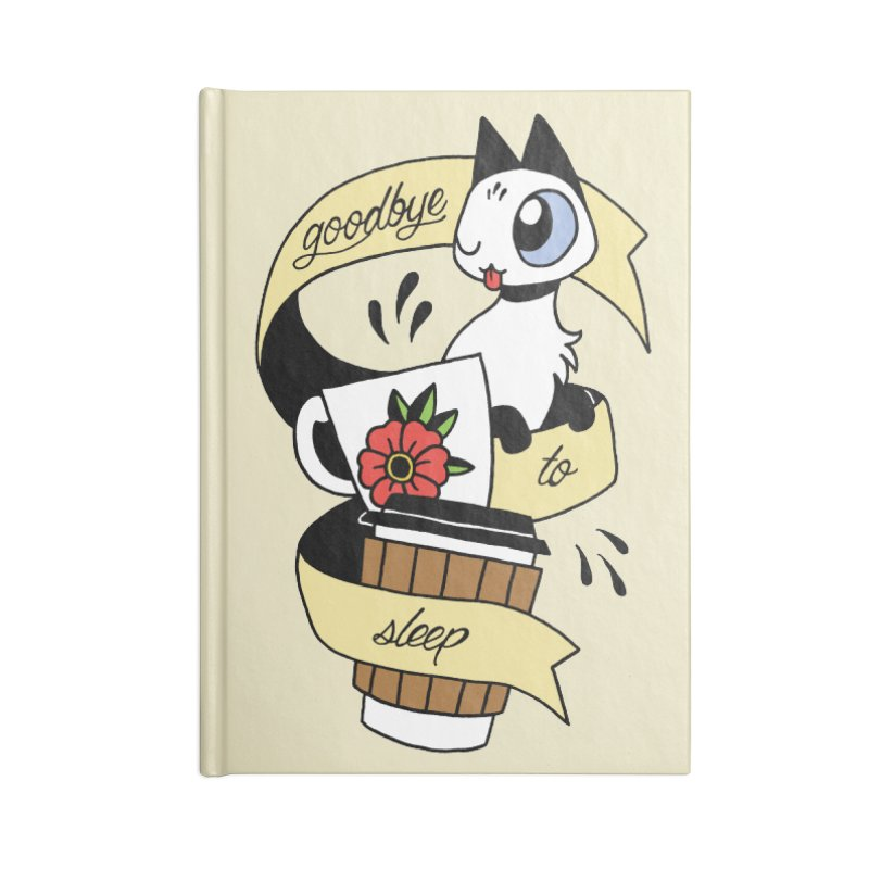 Goodbye to Sleep Accessories Notebook by mixtapecomics's Artist Shop
