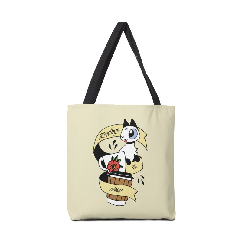 Goodbye to Sleep Accessories Tote Bag Bag by Mixtape Comics