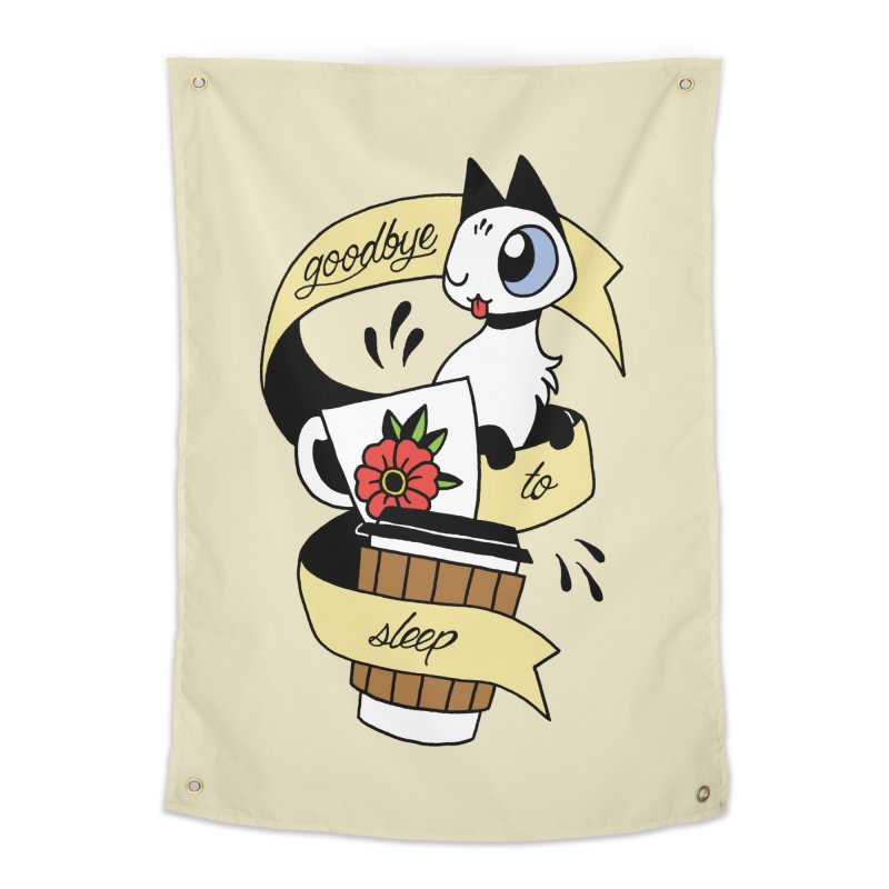 Goodbye to Sleep Home Tapestry by mixtapecomics's Artist Shop