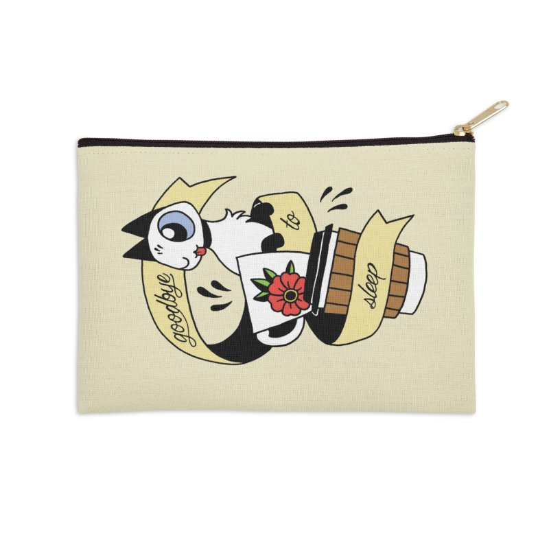 Goodbye to Sleep Accessories Zip Pouch by Mixtape Comics