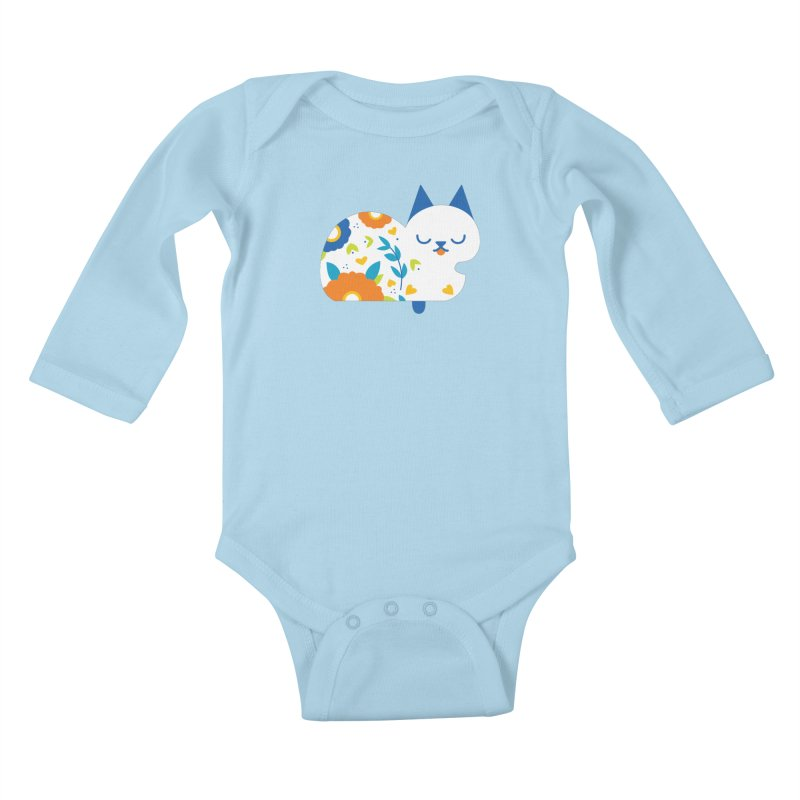 Tattoed Tabby Kids Baby Longsleeve Bodysuit by Mixtape Comics