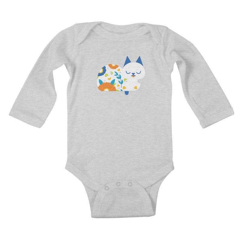 Tattoed Tabby Kids Baby Longsleeve Bodysuit by mixtapecomics's Artist Shop